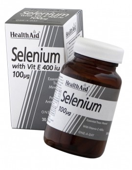 HEALTH AID SELENIUM 100mg + VITAMIN E 40 …