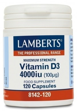 LAMBERTS VITAMIN D3 4000i.u. 120caps