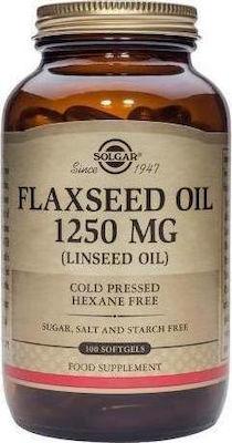 SOLGAR FLAXSEED OIL 1250mg 100tabs