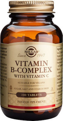 SOLGAR B-COMPLEX with VITAMIN C 100tabs