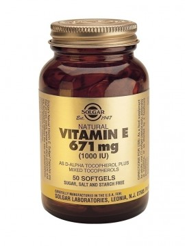 SOLGAR VITAMIN E 1000 IU SOFTGELS 50caps