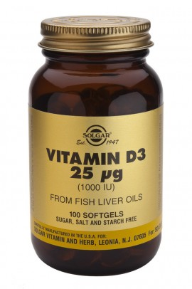 SOLGAR VITAMIN D3 1000i.u 100softgels