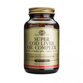 SOLGAR SUPER COD LIVER OIL COMPLEX 60sof …