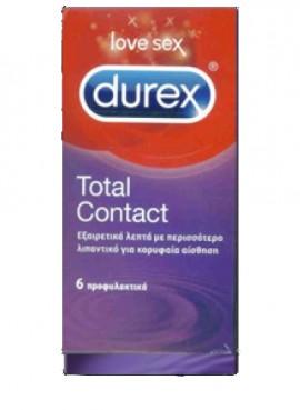 DUREX TOTAL CONTACT 6τεμ.