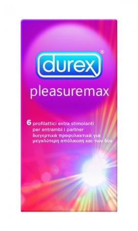 DUREX PLEASURE MAX 6τεμ.