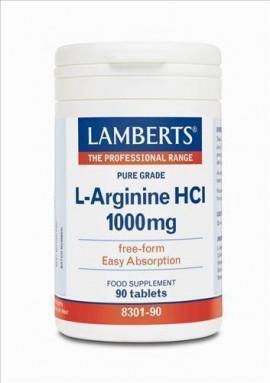 LAMBERTS L-ARGININE HCL 1000mg 90tabs