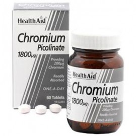 HEALTH AID CHROMIUM PICOLINATE 1800μg 60 …