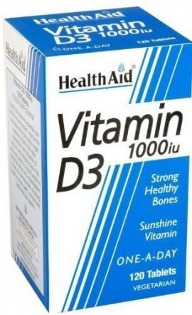 HEALTH AID VITAMIN D3 1000i.u. 120tabs