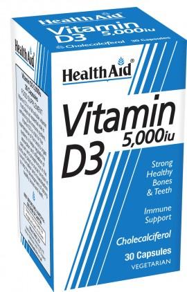 HEALTH AID VITAMIN D3 5000i.u. 30tabs