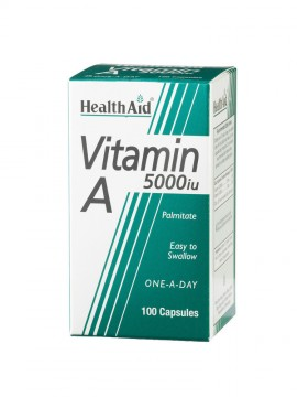 HEALTH AID VITAMIN A 5000i.u. 100caps