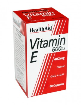 HEALTH AID VITAMIN E 600i.u. 60caps