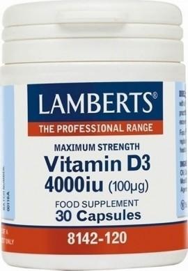 LAMBERTS VITAMIN D3 4000i.u 30caps