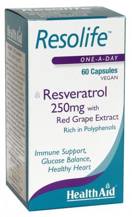 HEALTH AID RESOLIFE 250mg 60caps