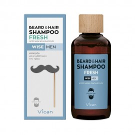 VICAN WISE MEN - BEARD & HAIR SHAMPOO FR …