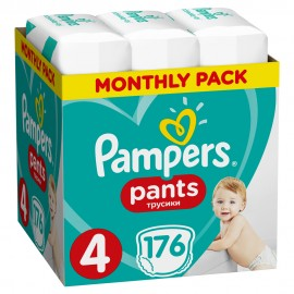PAMPERS PANTS No4 (9-15kg) MONTHLY PACK …