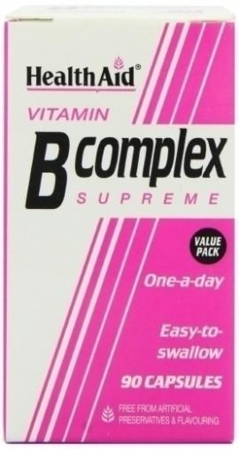 HEALTH AID B COMPLEX SUPREME 90caps