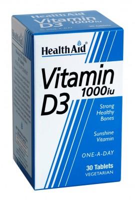 HEALTH AID VITAMIN D3 1000i.u. 30tabs