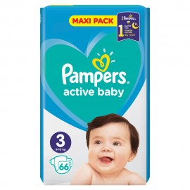 PAMPERS ACTIVE BABY No3 (6-10kg) 66τμχ