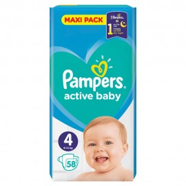 PAMPERS ACTIVE BABY No4 (9-14kg) 58τμχ