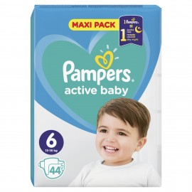 PAMPERS ACTIVE BABY No6 (13-18kg) 44τμχ