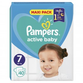 PAMPERS ACTIVE BABY No7 (15+kg) 40τμχ