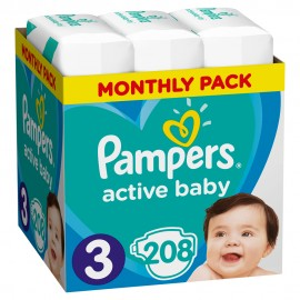 PAMPERS ACTIVE BABY No3 (6-10kg) MONTHLY …