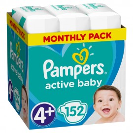 PAMPERS ACTIVE BABY No4+ (10-15kg) MONTH …