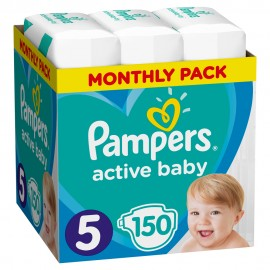 PAMPERS ACTIVE BABY No5 (11-16kg) MONTHL …