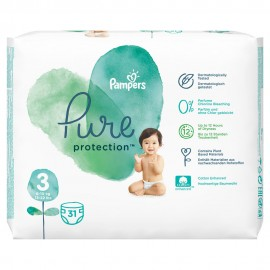 PAMPERS PURE PROTECTION No3 (6-10kg) 31τ …