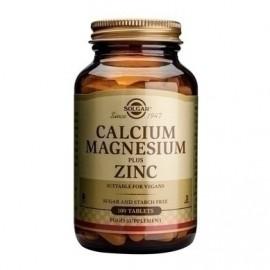 SOLGAR CALCIUM MAGNESIUM PLUS ZINC 100ta …