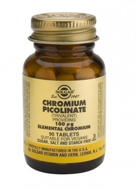 SOLGAR CHROMIUM PICOLINATE 100mg 90tabs