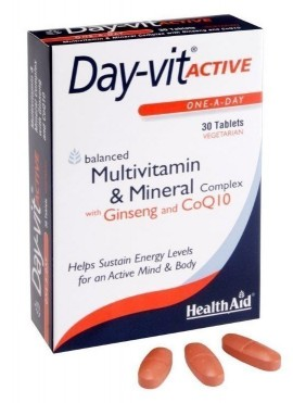 HEALTH AID DAYVIT ACTIVE Co-Q-10 & GINSE …