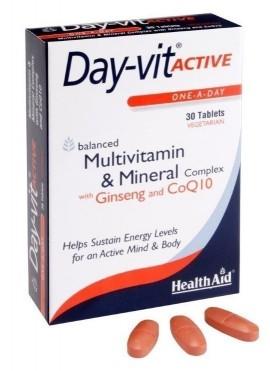 HEALTH AID DAYVIT ACTIVE Co-Q-10 & GINSE …