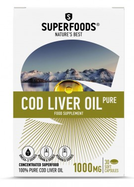 SUPERFOODS COD LIVER OIL PURE 1000mg 30c …