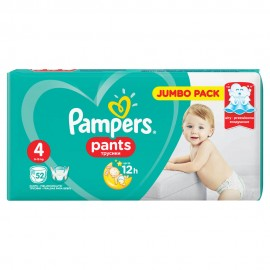 PAMPERS PANTS No4 (9-15kg) 52τμχ