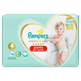 PAMPERS PREMIUM PANTS JUMBO No4 (9-15kg) …