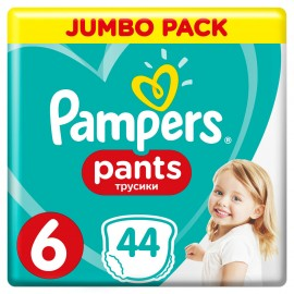 PAMPERS PANTS Νο6 (15+kg) 44τμχ