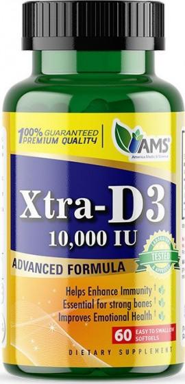AMS VITAMIN XTRA-D3 10000iu 60caps