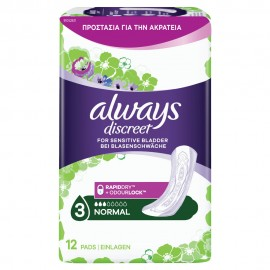 ALWAYS DISCREET PADS NORMAL Νο3 12pads