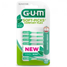 GUM SOFT PICKS COMFORT FLEX MEDIUM 40τμχ