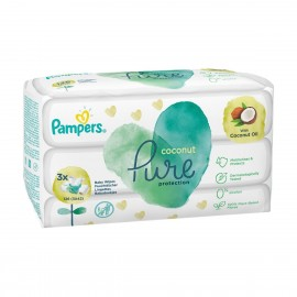 PAMPERS ΜΩΡΟΜΑΝΤΗΛΑ PURE COCONUT 3x42τμχ