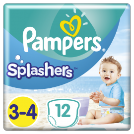PAMPERS SPLASHERS Νο3-4 12τμχ